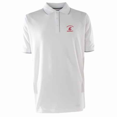 Washington State Mens Elite Polo Shirt (Color: White)
