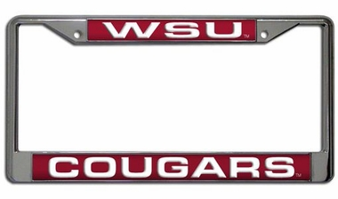 Washington State Laser Etched Chrome License Plate Frame