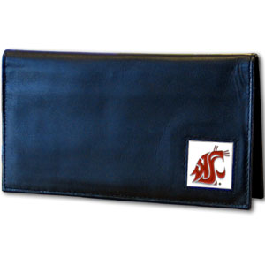 Washington State Leather Checkbook Cover (F)