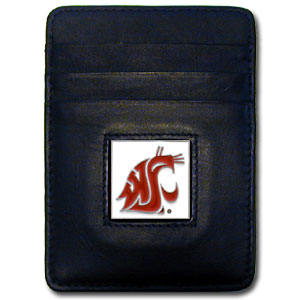 Washington State Leather Money Clip (F)