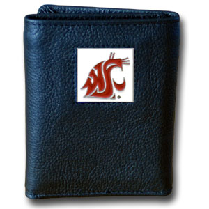Washington State Leather Trifold Wallet (F)