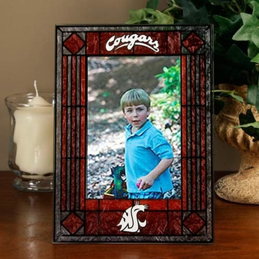 Washington State Portrait Art Glass Picture Frame