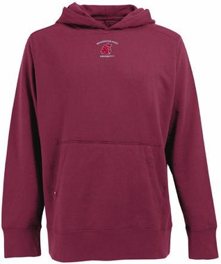Washington State Mens Signature Hooded Sweatshirt (Team Color: Maroon)