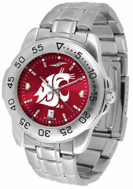 Washington State Sport Anonized Men's Steel Band Watch