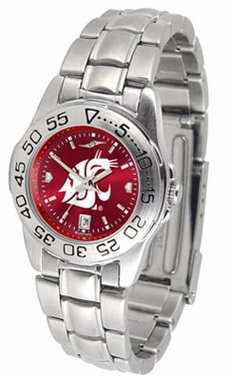 Washington State Sport Anonized Women's Steel Band Watch