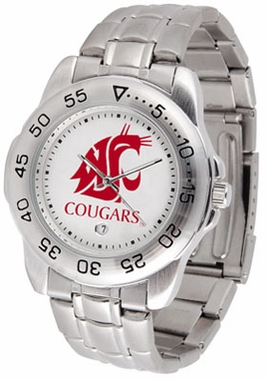 Washington State Sport Men's Steel Band Watch