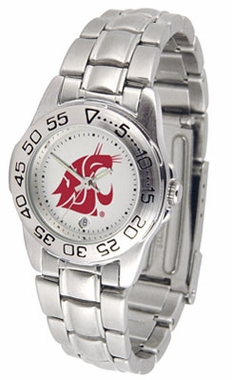 Washington State Sport Women's Steel Band Watch
