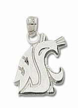 Washington State Sterling Silver Pendant