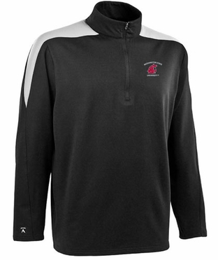 Washington State Mens Succeed 1/4 Zip Performance Pullover (Team Color: Black)