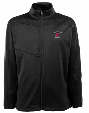 Washington State Mens Viper Full Zip Performance Jacket (Team Color: Black)