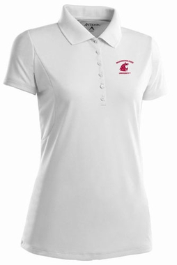 Washington State Womens Pique Xtra Lite Polo Shirt (Color: White)