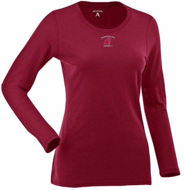 Washington State Womens Relax Long Sleeve Tee (Team Color: Maroon)