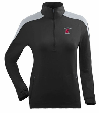 Washington State Womens Succeed 1/4 Zip Performance Pullover (Team Color: Black)