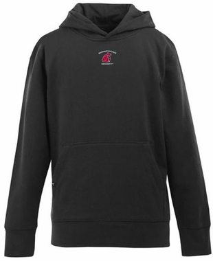 Washington State YOUTH Boys Signature Hooded Sweatshirt (Team Color: Black)