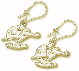 Washington Wizards 10K Gold Post or Dangle Earrings
