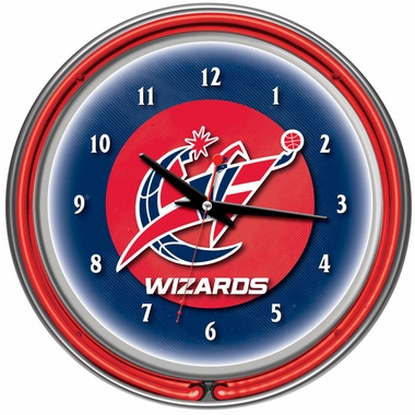 Washington Wizards 14 Inch Neon Clock