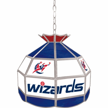 Washington Wizards 16 Inch Diameter Stained Glass Pub Light