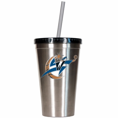 Washington Wizards 16oz Stainless Steel Insulated Tumbler with Straw