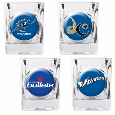 Washington Wizards 4 Piece Assorted Shot Glass Set