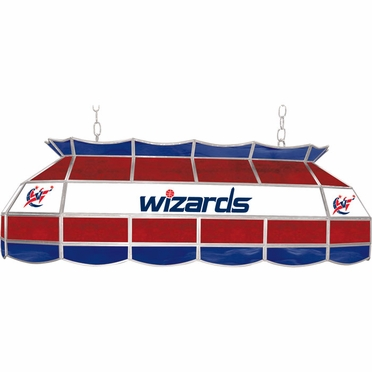 Washington Wizards 40 Inch Rectangular Stained Glass Billiard Light