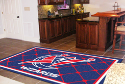 Washington Wizards 5 Foot x 8 Foot Rug