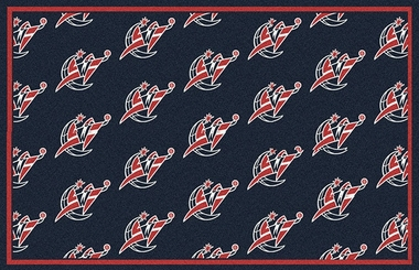"Washington Wizards 7'8 x 10'9"" Premium Pattern Rug"