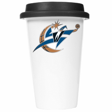 Washington Wizards Ceramic Travel Cup (Black Lid)