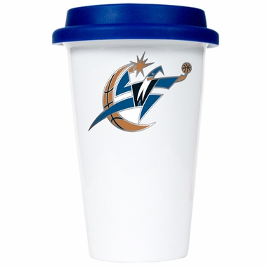 Washington Wizards Ceramic Travel Cup (Team Color Lid)