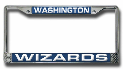 Washington Wizards Laser Etched Chrome License Plate Frame