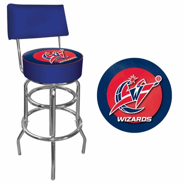 Washington Wizards Padded Bar Stool with Back