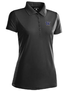 Washington Womens Pique Xtra Lite Polo Shirt (Color: Black) - X-Large