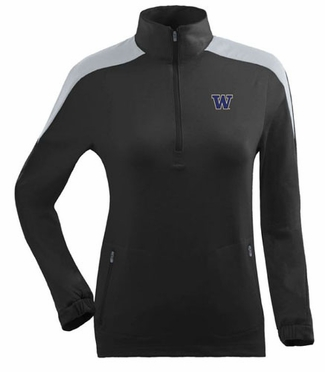 Washington Womens Succeed 1/4 Zip Performance Pullover (Team Color: Black)