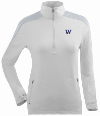Washington Womens Succeed 1/4 Zip Performance Pullover (Color: White)