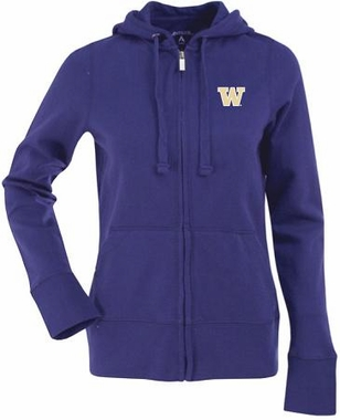 Washington Womens Zip Front Hoody Sweatshirt (Team Color: Purple)