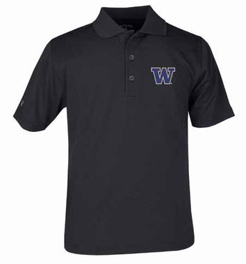 Washington YOUTH Unisex Pique Polo Shirt (Team Color: Black)