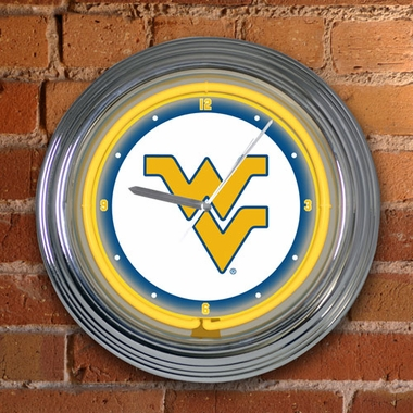 West Virginia 15 Inch Neon Clock