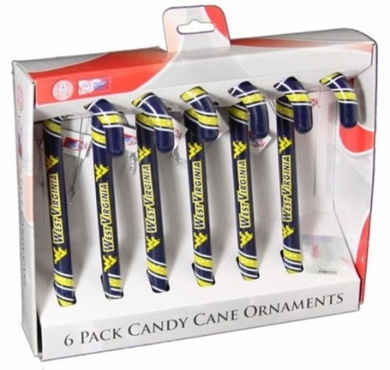 West Virginia 2010 Set of 6 Candy Cane Ornaments