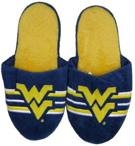 West Virginia 2011 Team Stripe Slide Slippers - Large