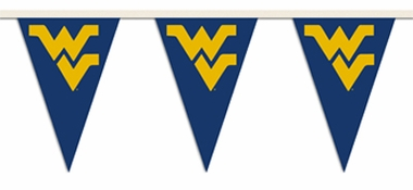West Virginia 25 Foot String of Party Pennants (P)