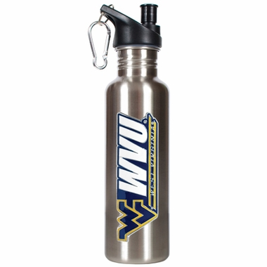 West Virginia 26oz Stainless Steel Water Bottle (Silver)