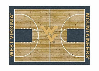 "West Virginia 3'10"" x 5'4"" Premium Court Rug"