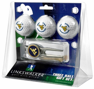 West Virginia 3 Ball Gift Pack With Kool Tool