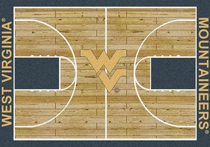"West Virginia 7'8"" x 10'9"" Premium Court Rug"