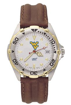 West Virginia All Star Mens (Leather Band) Watch