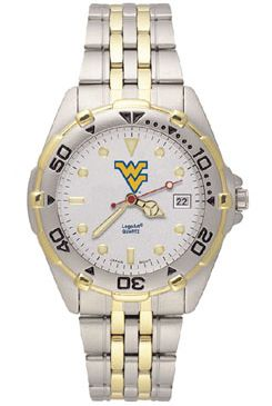 West Virginia All Star Mens (Steel Band) Watch