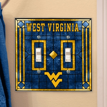 West Virginia Art Glass Lightswitch Cover (Double)