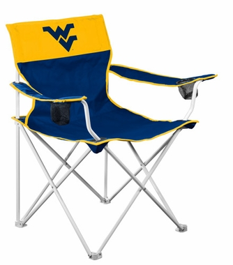West Virginia Big Boy Adult Folding Logo Chair