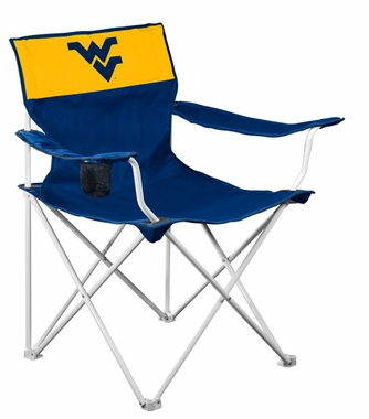West Virginia Canvas Adult Folding Logo Chair