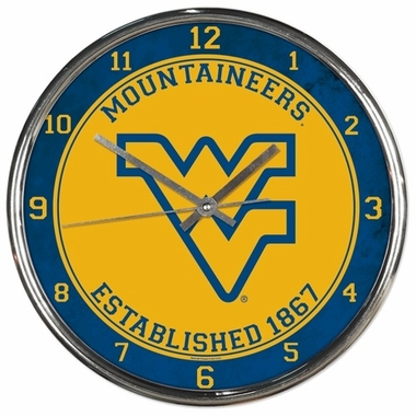 West Virginia Chrome Clock
