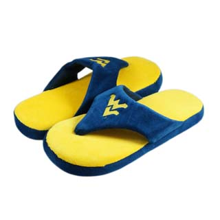 West Virginia Comfy Flop Sandal Slippers - Small